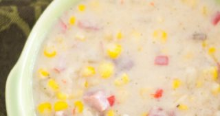 Crock Pot Corn Chowder with Ham