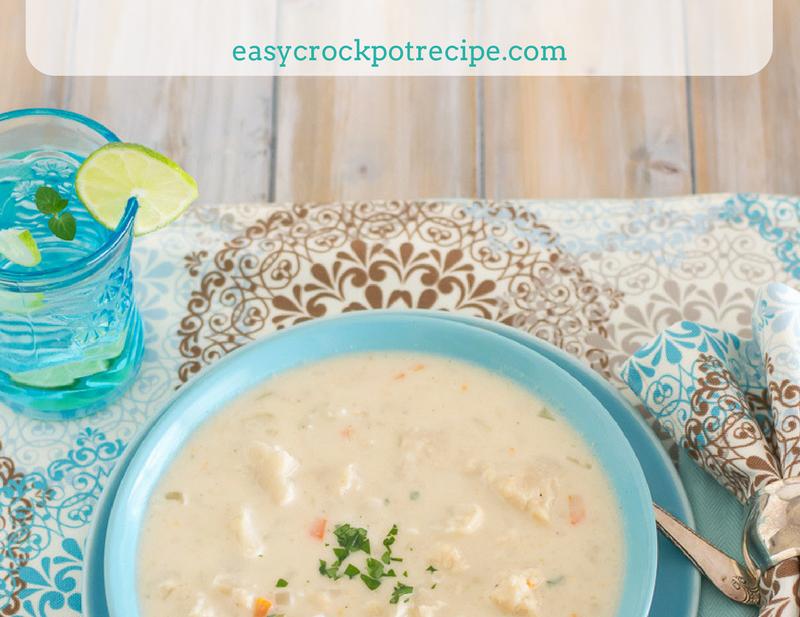 Chunky Cheesy Crock Pot Cauliflower Soup recipe via easycrockpotrecipe.com