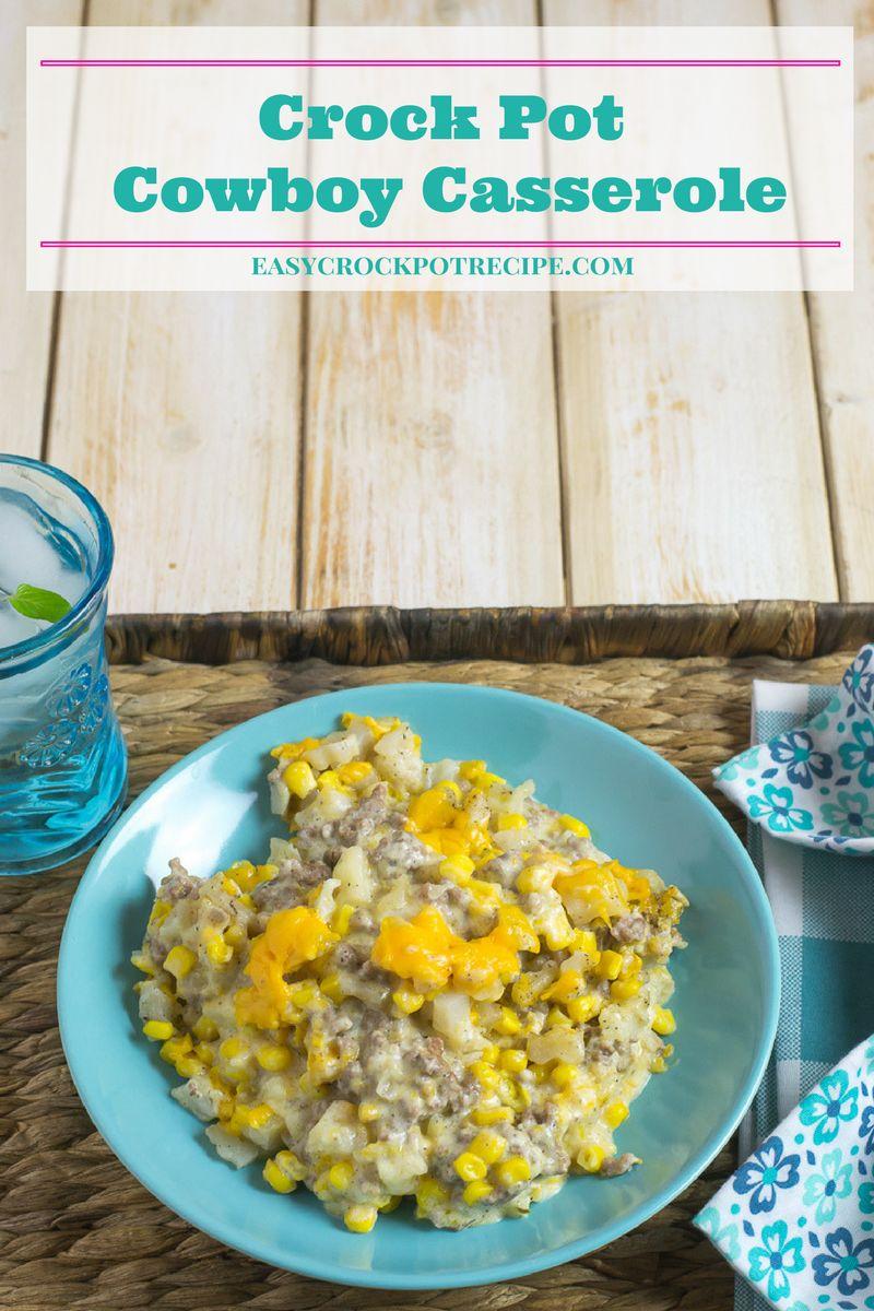 Crock Pot Cowboy Casserole recipe via easycrockpotrecipe.com