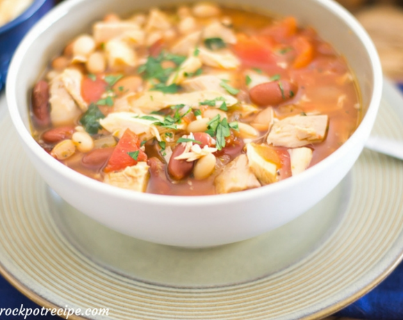 Easy Crock Pot Turkey Soup recipe via easycrockpotrecipe.com