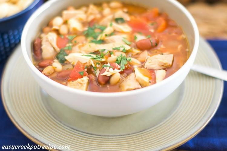 Easy Crock Pot Turkey Soup recipe via easycrockpotrecipe.com