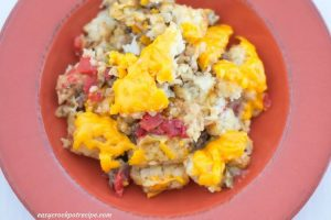 Tator Tot Casserole made in a slow cooker