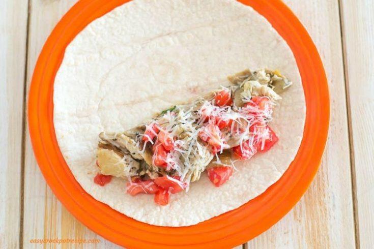 Crock Pot Greek Chicken Wraps Recipe
