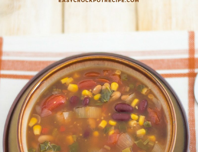 Crock Pot Vegetarian Bean Soup recipe