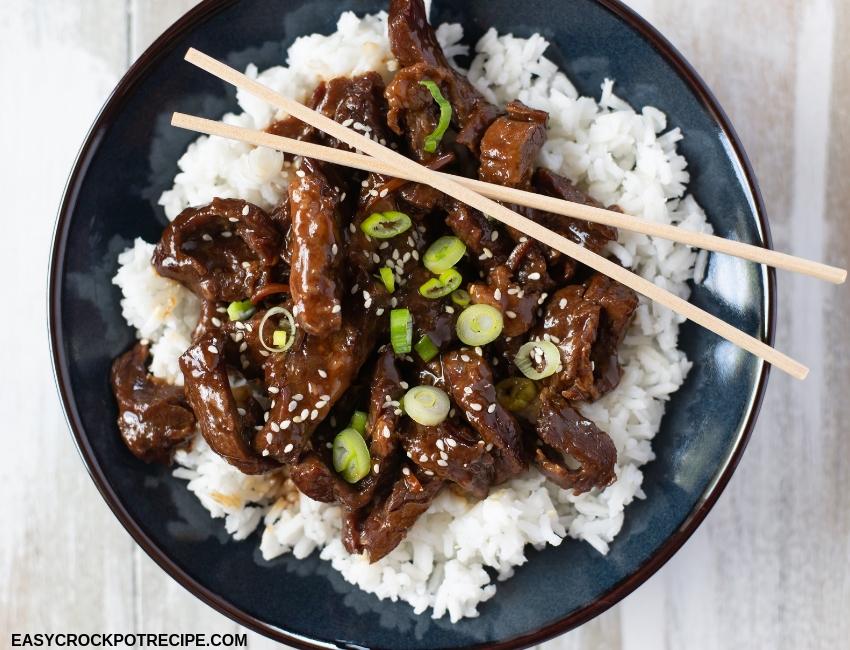 Easy Crock Pot Mongolian Beef Recipe